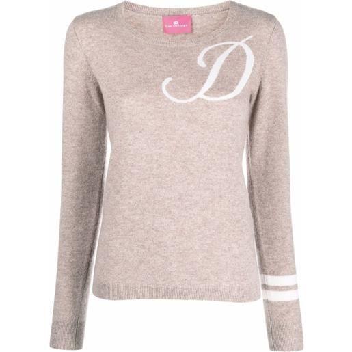 Dee Ocleppo maglione con ricamo d - toni neutri