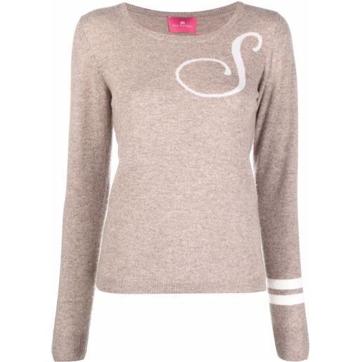 Dee Ocleppo maglione con ricamo s - toni neutri