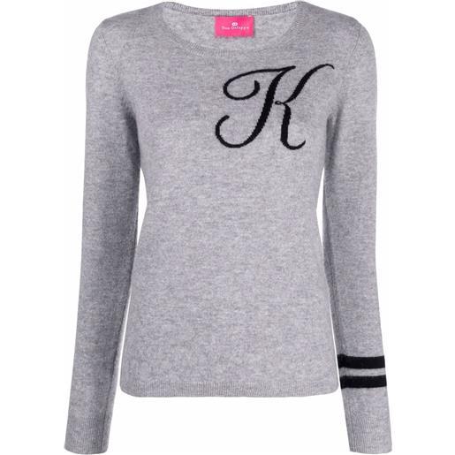 Dee Ocleppo maglione con ricamo k - grigio