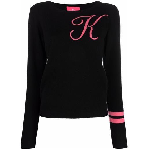 Dee Ocleppo maglione con ricamo k - nero
