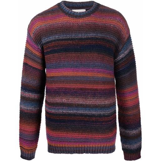 Laneus maglione a righe - viola