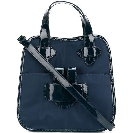 Tila March zelig small contrast trim tote - marine