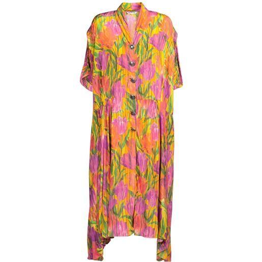 BALENCIAGA vestito oversize in crepe di seta