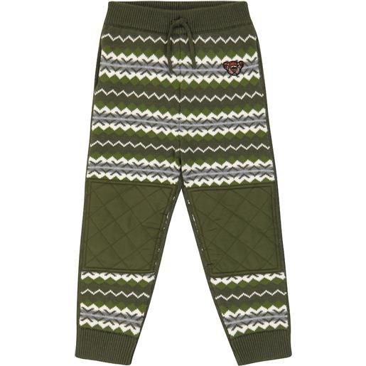 Burberry Kids pantaloni sportivi in lana