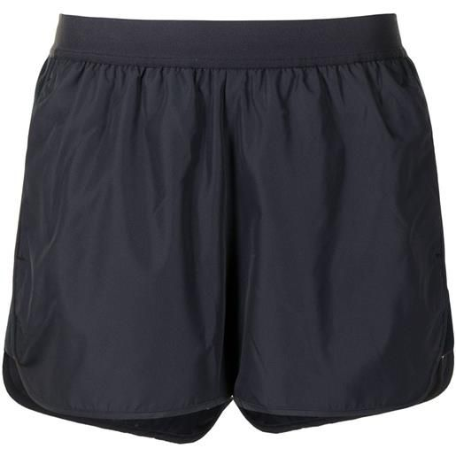 Thom Browne running shorts in flyweight tech - blu