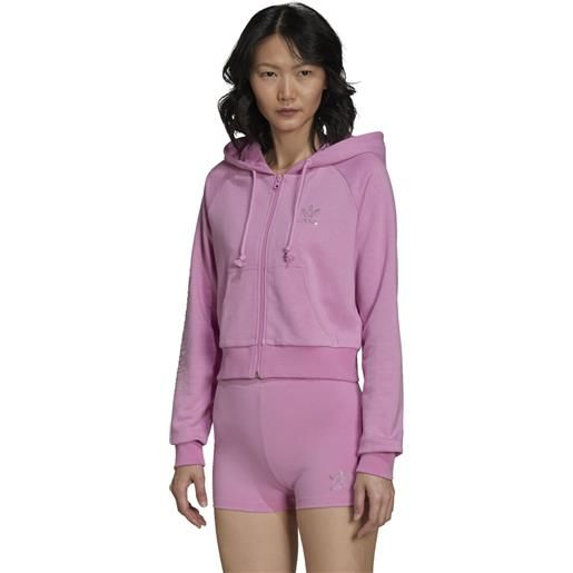 Adidas felpa track top adidas 2000 luxe cropped donna rosa