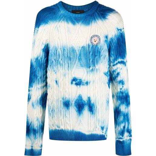 Alanui maglione con fantasia tie dye - bianco