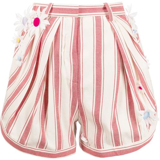 Rosie Assoulin shorts asimmetrici a righe - rosso