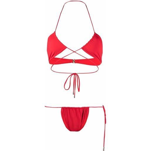 Manokhi bikini a portafoglio - rosso
