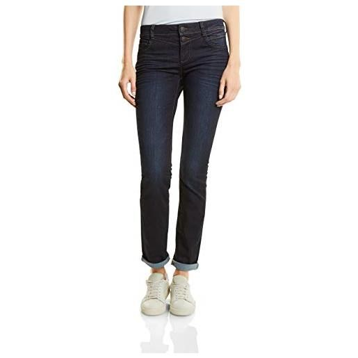 Street One 371001 jeans straight, blau (dark blue rinsed optic 10660), 29w x 30l donna