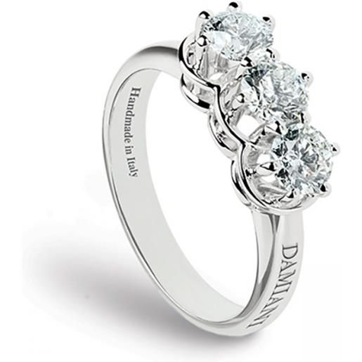 Damiani anello minou trilogy oro bianco e diamanti
