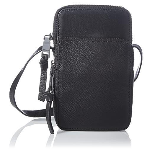 Esprit Accessoires 081ea1o326, borsa a cartella donna, 001/nero, taglia unica