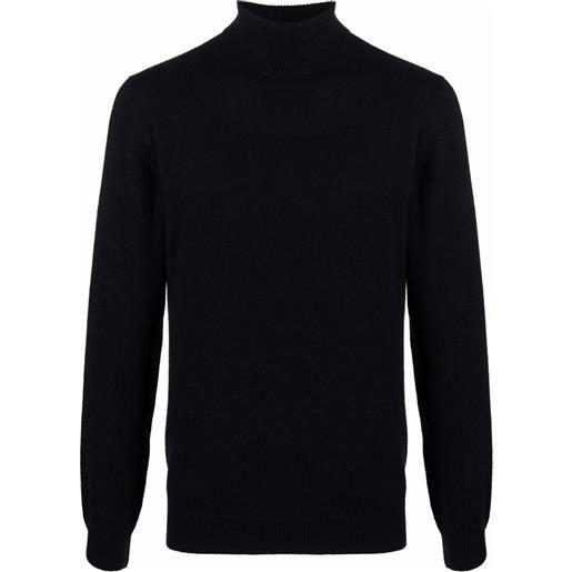 Corneliani maglione a collo alto - blu