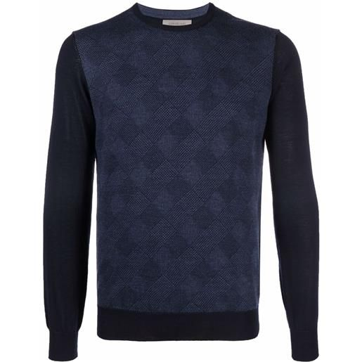 Corneliani maglione girocollo maglieria - blu