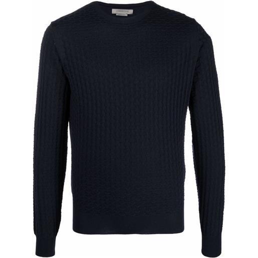 Corneliani maglione girocollo - blu