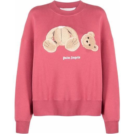 Palm Angels felpa teddy bear - rosa