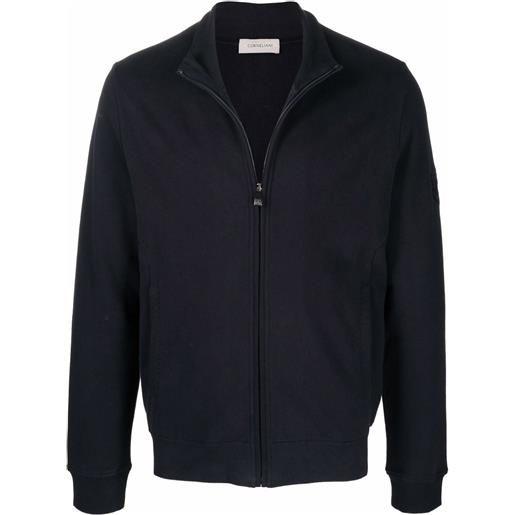 Corneliani maglione con scollo a imbuto - blu