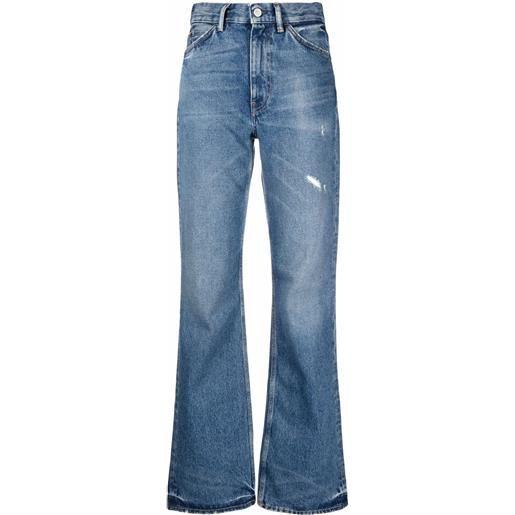 Acne Studios jeans svasati con effetto vissuto - blu