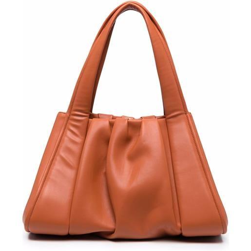 Themoirè borsa tote irida - arancione