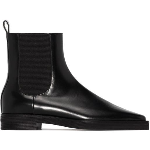 Totême stivali chelsea con punta quadrata - nero
