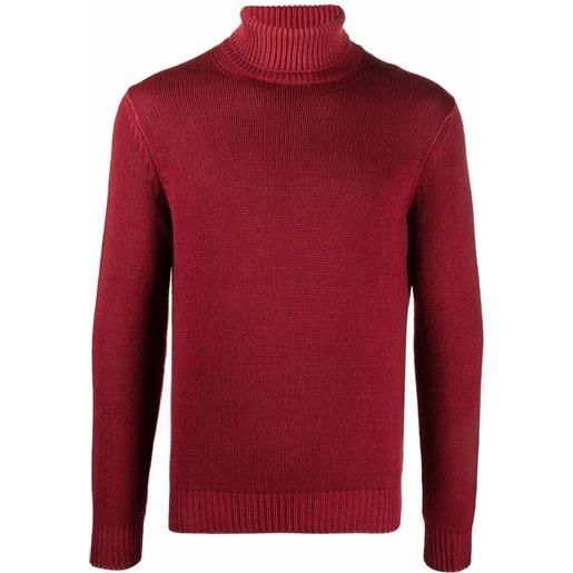 Dell'oglio maglione con dettaglio a coste - rosso