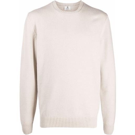 Borrelli maglione girocollo - toni neutri