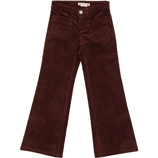 Bonpoint pantaloni flared in velluto a coste