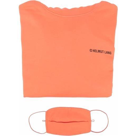 Helmut Lang felpa con stampa - arancione