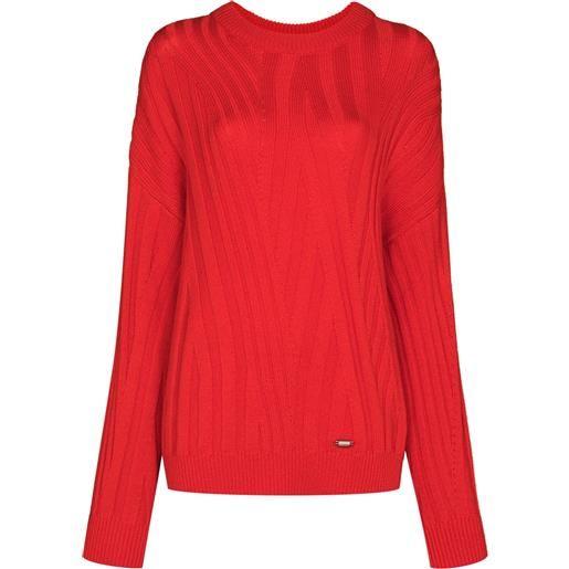 032c maglione zen a coste - rosso