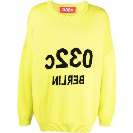 032c maglione berlin con ricamo - verde
