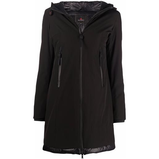 Peuterey bakary hooded raincoat - nero