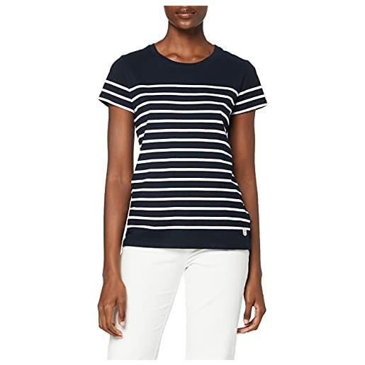 Armor Lux marinière tel héritage femme t-shirt, multicolore (bi8 rich navy/blanc bi8), 40 (taglia produttore: 0) donna