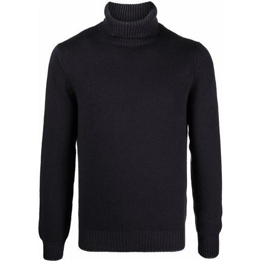 Dell'oglio maglione con dettaglio a coste - grigio