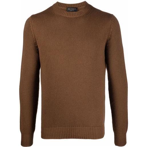 Dell'oglio maglione girocollo - marrone