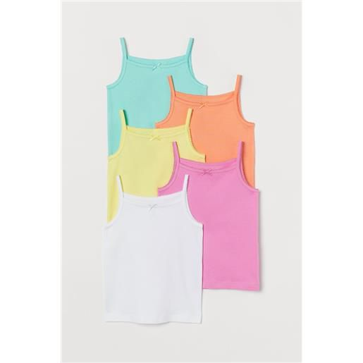 H & M - canotte in jersey, 5 pz - rosa