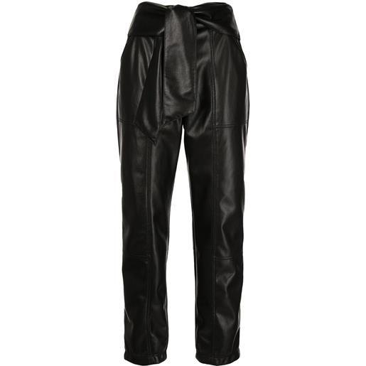Jonathan Simkhai pantaloni tessa - nero