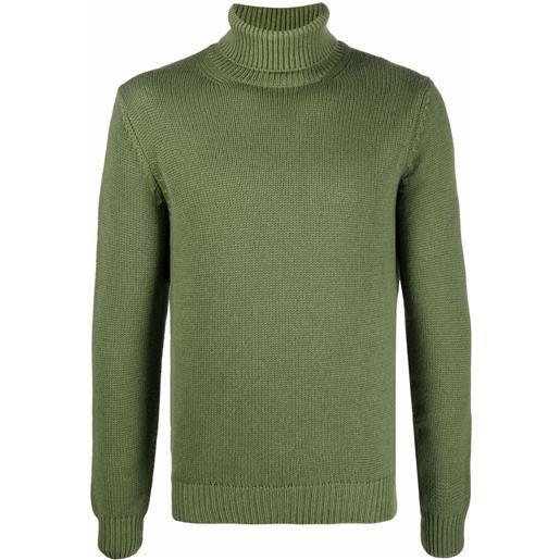 Dell'oglio maglione con dettaglio a coste - verde