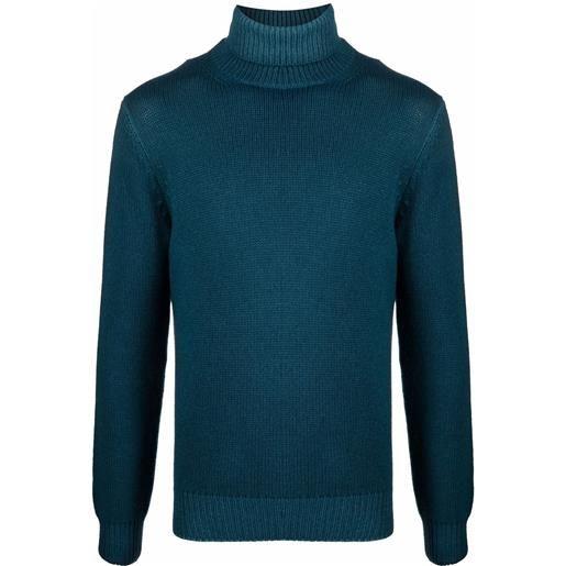 Dell'oglio maglione con dettaglio a coste - blu