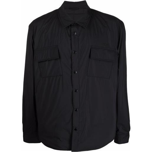 032c camicia con stampa - nero