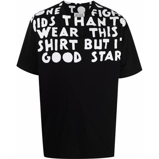 Maison Margiela t-shirt con stampa - nero