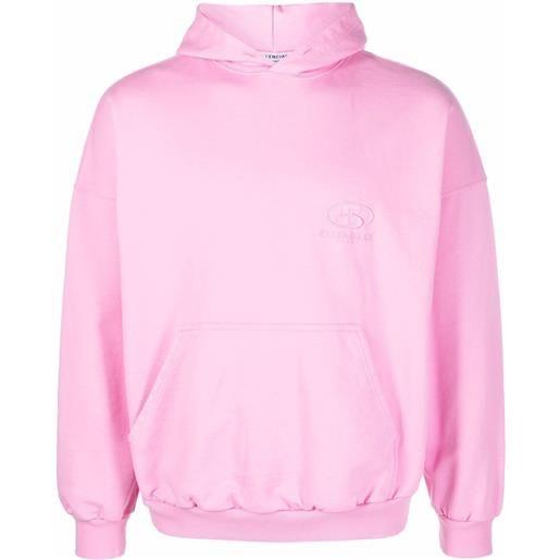 Balenciaga spa logo-embroidered oversized hoodie - rosa
