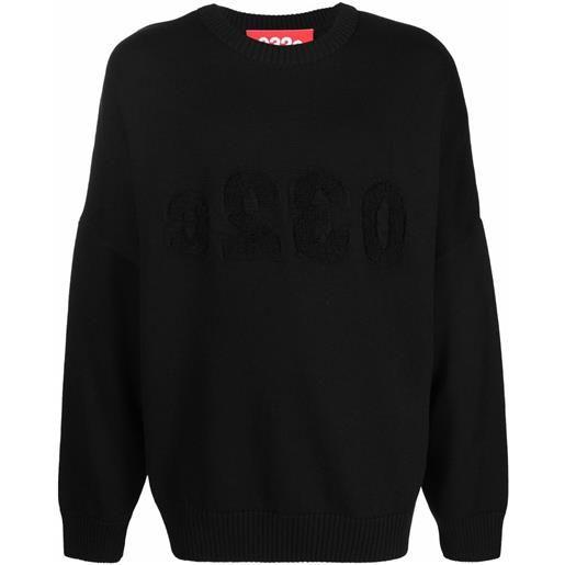 032c maglione con ricamo - nero