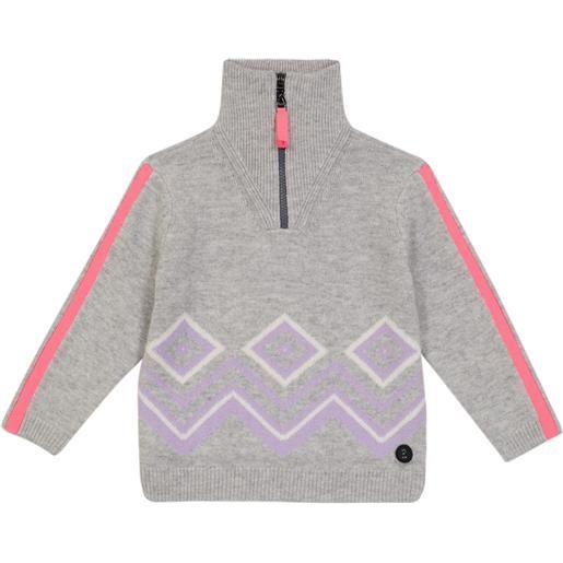 Bogner Kids pullover in lana vergine con zip