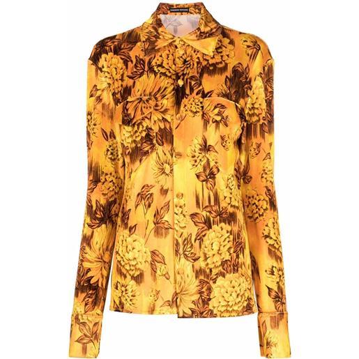 Kwaidan Editions camicia a fiori - arancione