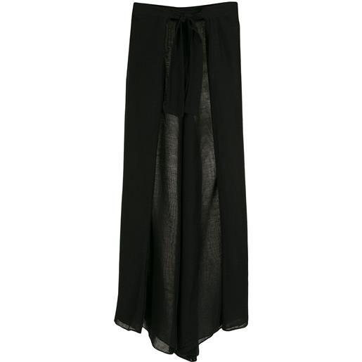 Amir Slama pantaloni a palazzo - nero