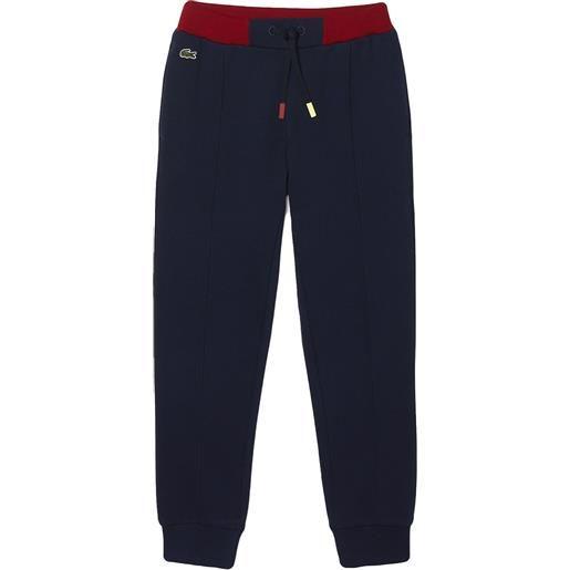 LACOSTE 166 jog - pantaloni sportivi bambino blu