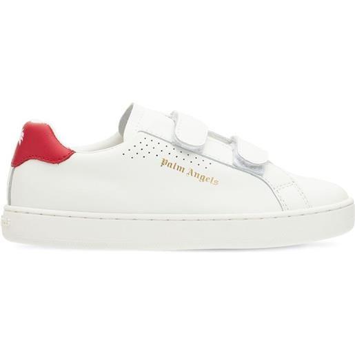 PALM ANGELS sneakers in pelle con logo