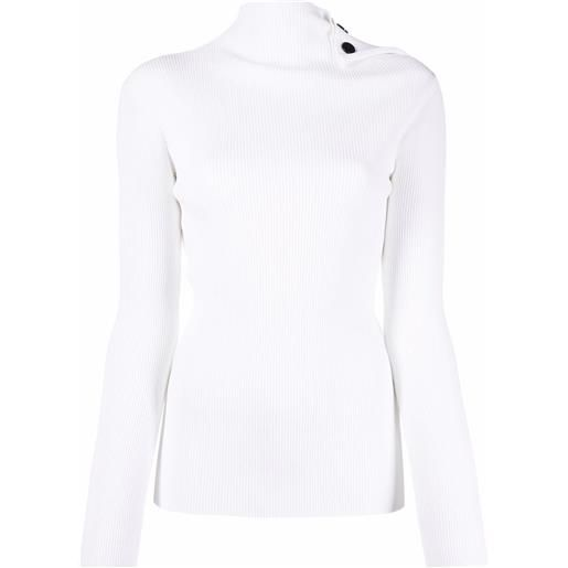 Roland Mouret high neck knitted top - bianco