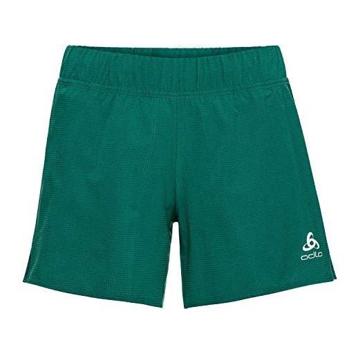 Odlo 2-in-1-shorts millennium, pantaloncini da donna, nero, xs
